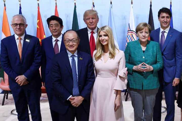صورة لإيفانكا ترامب في قمة العشرين