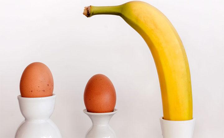 هل يجوز اكل البيض مع الموز