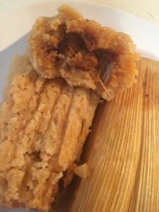 Pork Pastor with Pineapple Tamales. They were delicious.