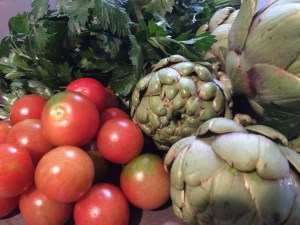 Springdale purchases: Tomatoes, Parsley, Artichokes.