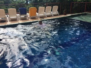Older Nephew in the pool. He was in there for about 5 hours straight.