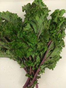 Some lovely kale. Just trim off the leaves and use the stalks for compost or stock.