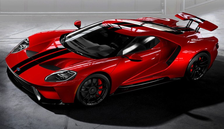 Ford Gt Red Black