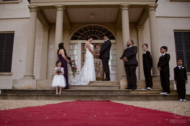 wedding party at old government house