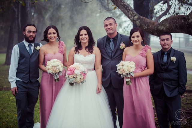 bridal party at bulli tops