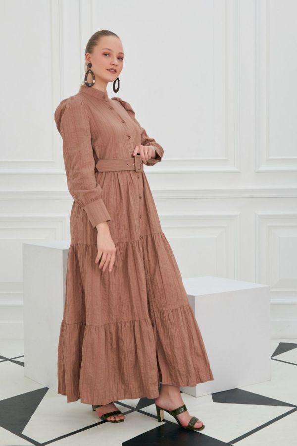 dugmeli uzun elbise3