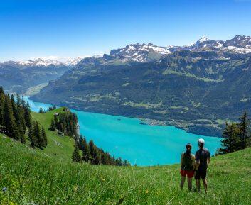 Petit moment pour profiter du lac de Brienz