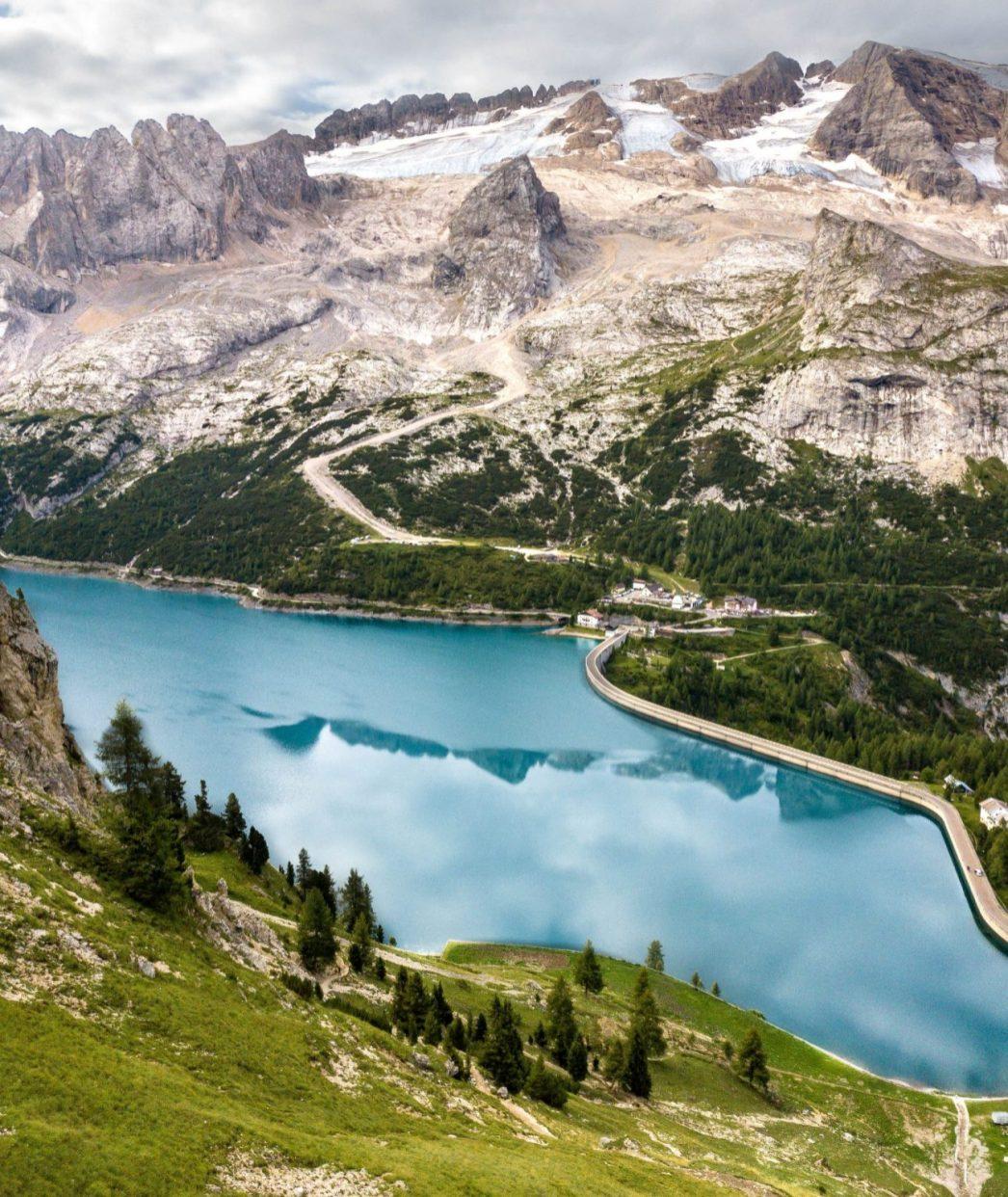 Lac de Fedaia et Marmolada