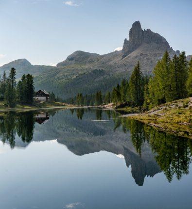Reflet sur le lago di Federa