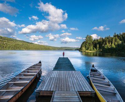 Un rayon de soleil au bord du lac wapizagonke