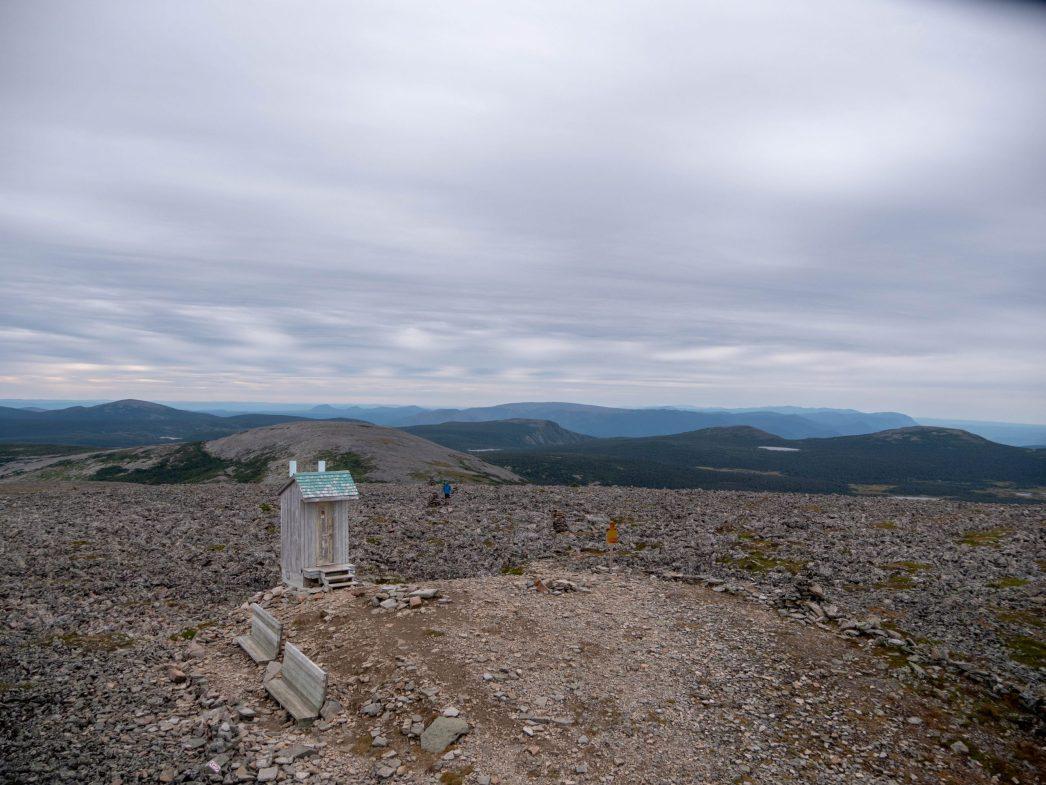 Le sommet du Mont Jacques Cartier, et dire que nous sommes à la même latitude que Paris.