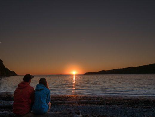 Le dernier coucher de soleil dans notre roadtrip en Gaspésie