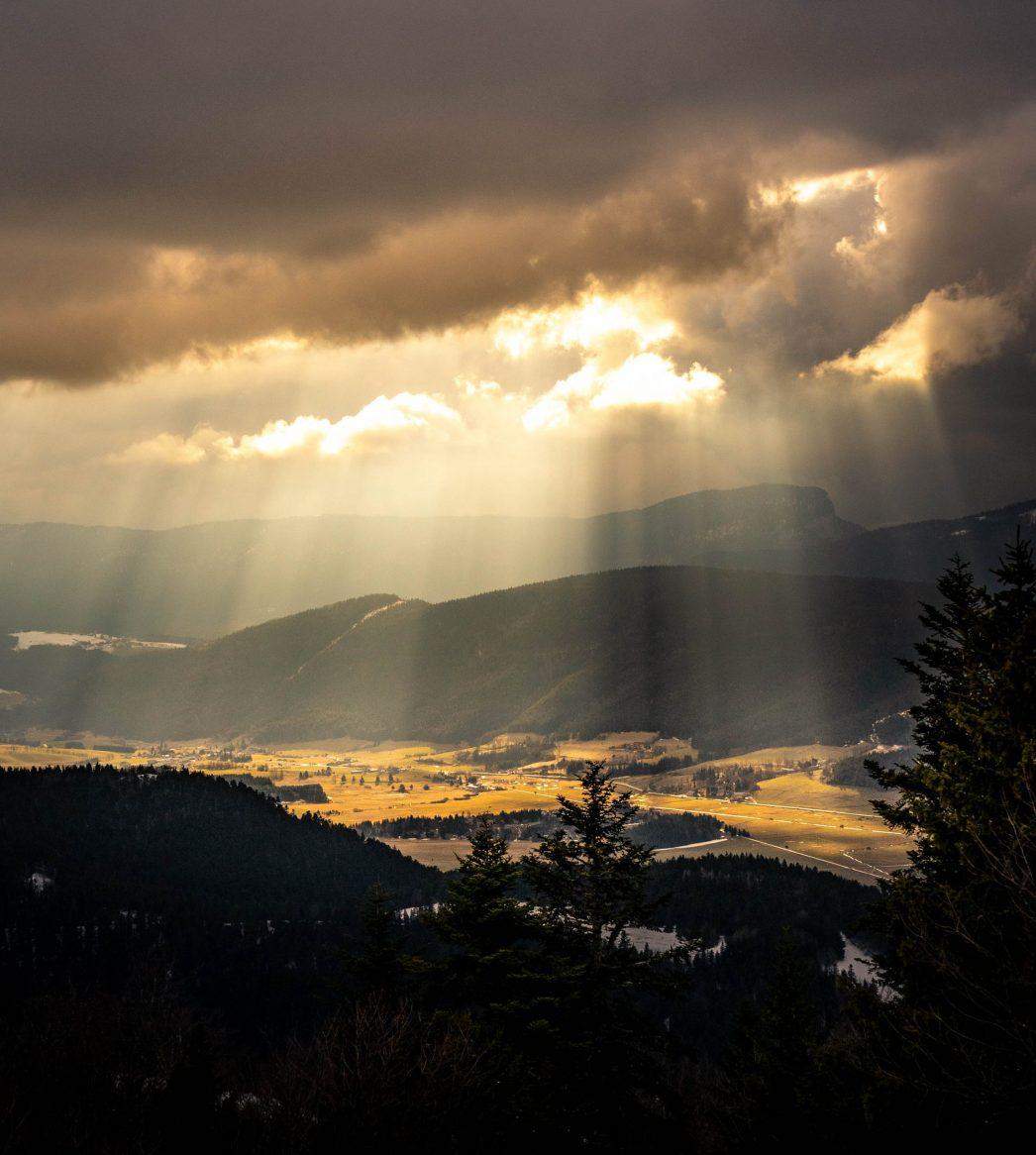 La météo est vraiment changeante en montagne, même quand il doit faire super beau