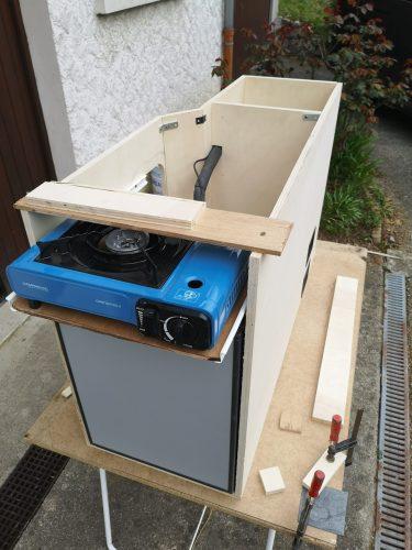 Rajout du tiroir pour le réchaud