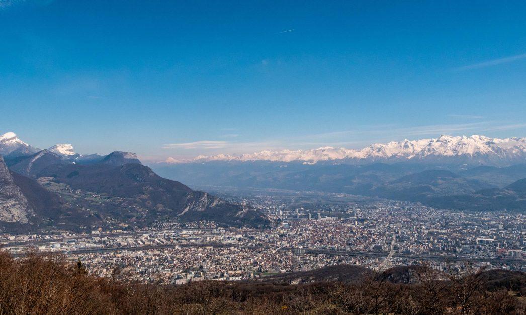 Vue sur Grenoble depuis la tour sans Venin