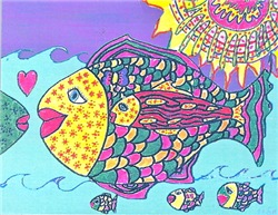 Fish Family Tasha Paley Art