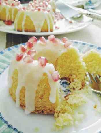 Lemon Almond Polenta Tea Cakes
