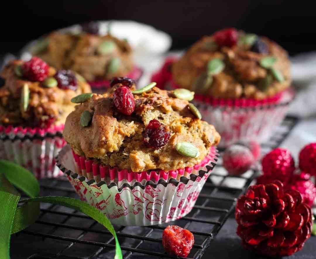 Banana Granola Muffins healthy,wholegrain,baking, breakfast, snack, easy recipe, refined sugarfree