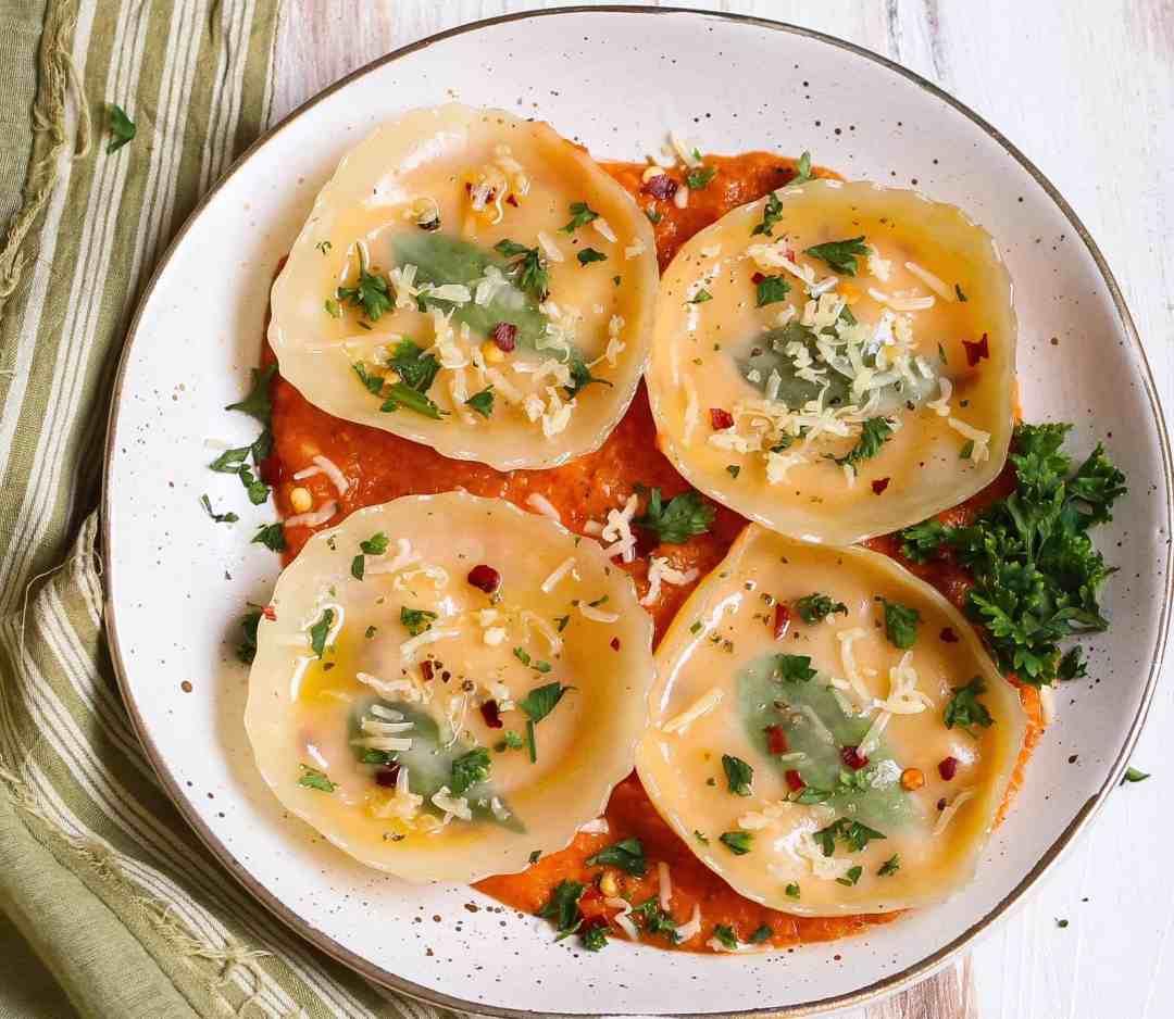 Easy Pumpkin Cheese Ravioli vegetarian easy cooking pasta dinner