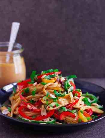 Spicy Thai Peanut Noodles vegan healthy vegetarian Asian food