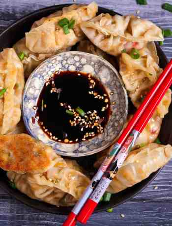 Tofu Potstickers vegan healthy vegetarian easy recipe