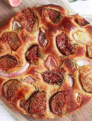 Figs & Rosemary Focaccia wholegrain vegan recipe