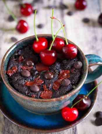 Chocolate Cherry Mug Cake Vegan Glutenfree Easy Recipe
