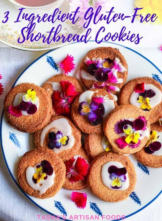 3 Ingredient Gluten-Free Shortbread Cookies  Easy Eggless Baking