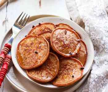 Banana Cinnamon Pancakes | Easy Vegan Recipe using Sourdough Discard