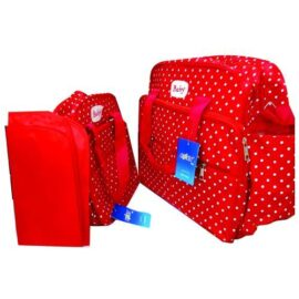 Red 3 In 1 Diaper Bag