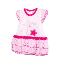 2pc girl set(frock and pink panty)
