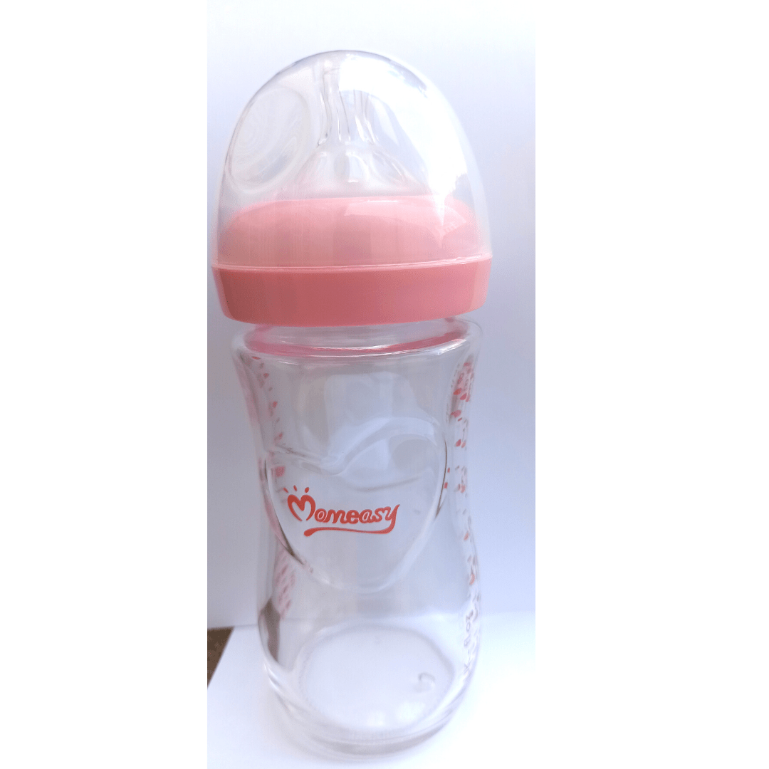 Mom Easy Glass Feeding Bottle 240ml