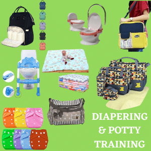 Diapering and potty training