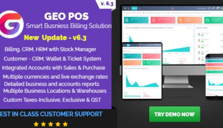 Geo POS Point of Sale and Stock Manager Application Script