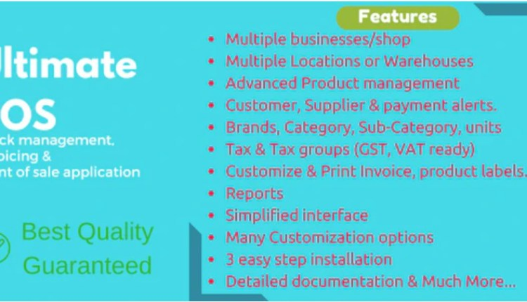 Ultimate POS Inventory Management and Billing Script