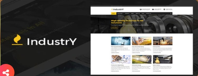 Industry Factory And Industry WP Theme