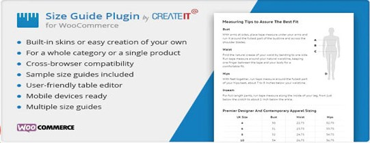 WooCommerce Product Size Guide plugin