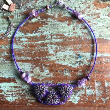 Amethyst Patience in Bloom Collar