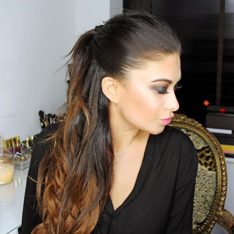 Ariana Grande Half Up Hair Using Bellami Hair Extensions