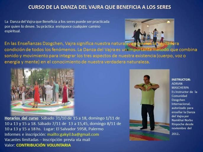 curso Danza del Vajra