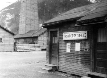 Tashme post office. University of British Columbia Archives, Margaret Sage fonds (UBC 39.1/58)