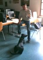 Jürgen und Luna in der Pause