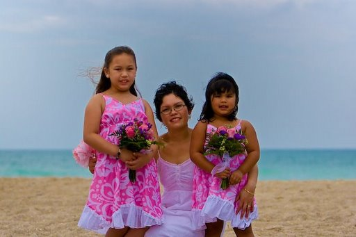 Paula A. Lujan Quinene and daughters