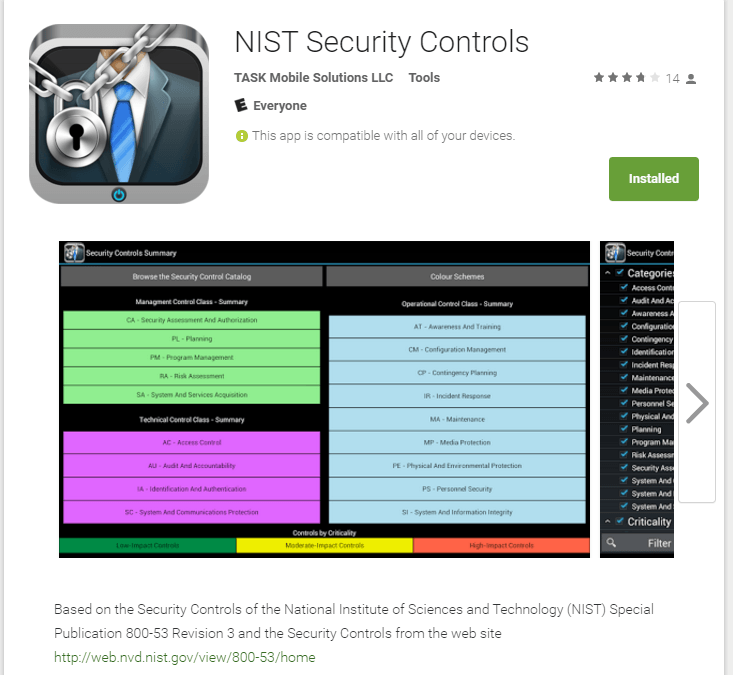 NIST Security Controls