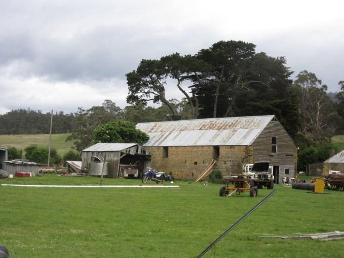 The farmyard.