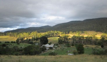 The view from our farm house.