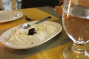 Olive oil and Yogurt dip at Erato Restaurant in the Plaka District