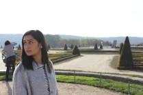 Walking in the beautiful Versailles Gardens