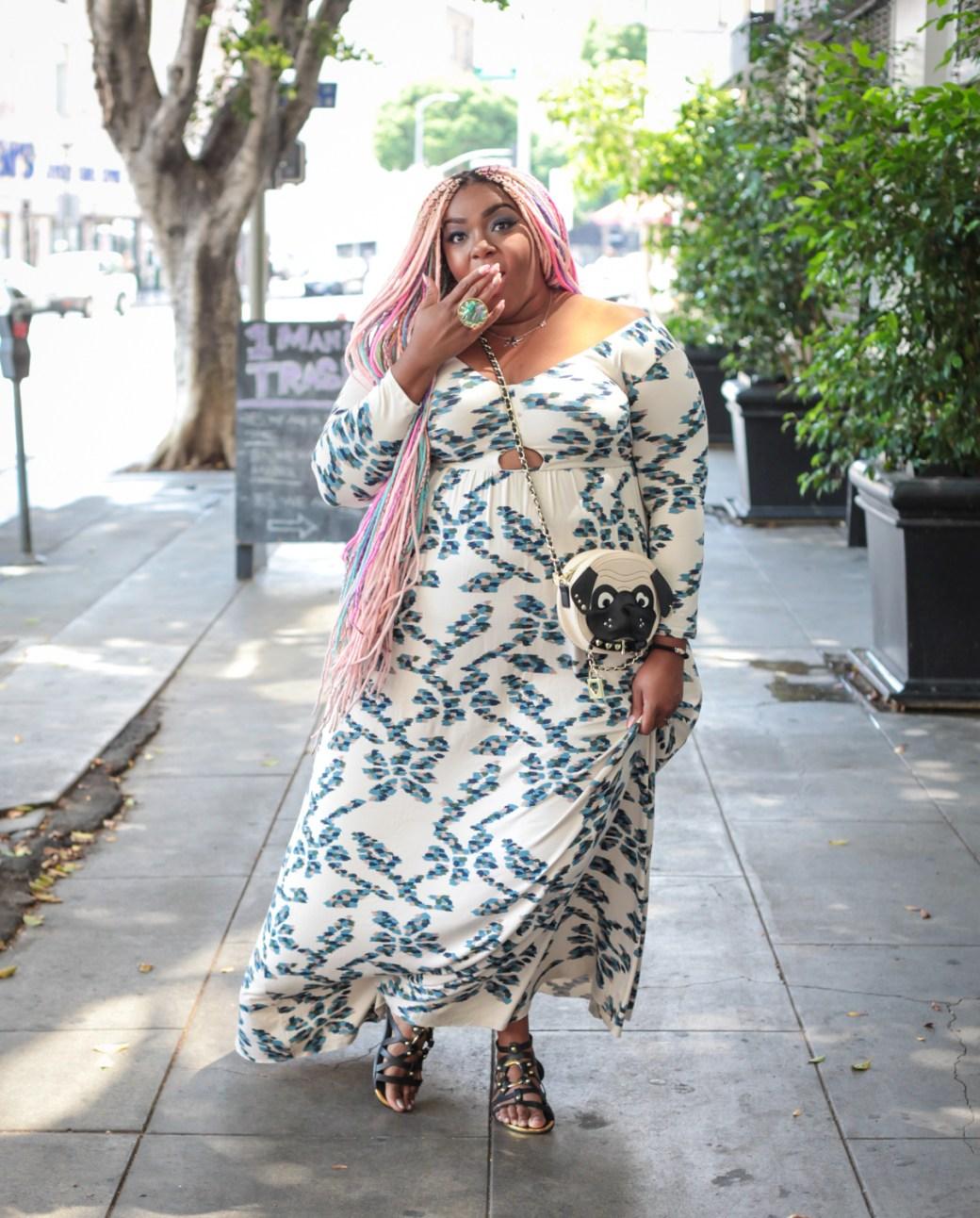 Plus Size Maxi Dress w/ Cutouts