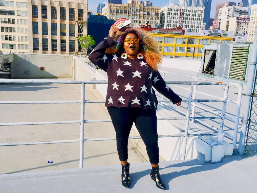Amina Star Lennon Sweater Wildfox Rainbow